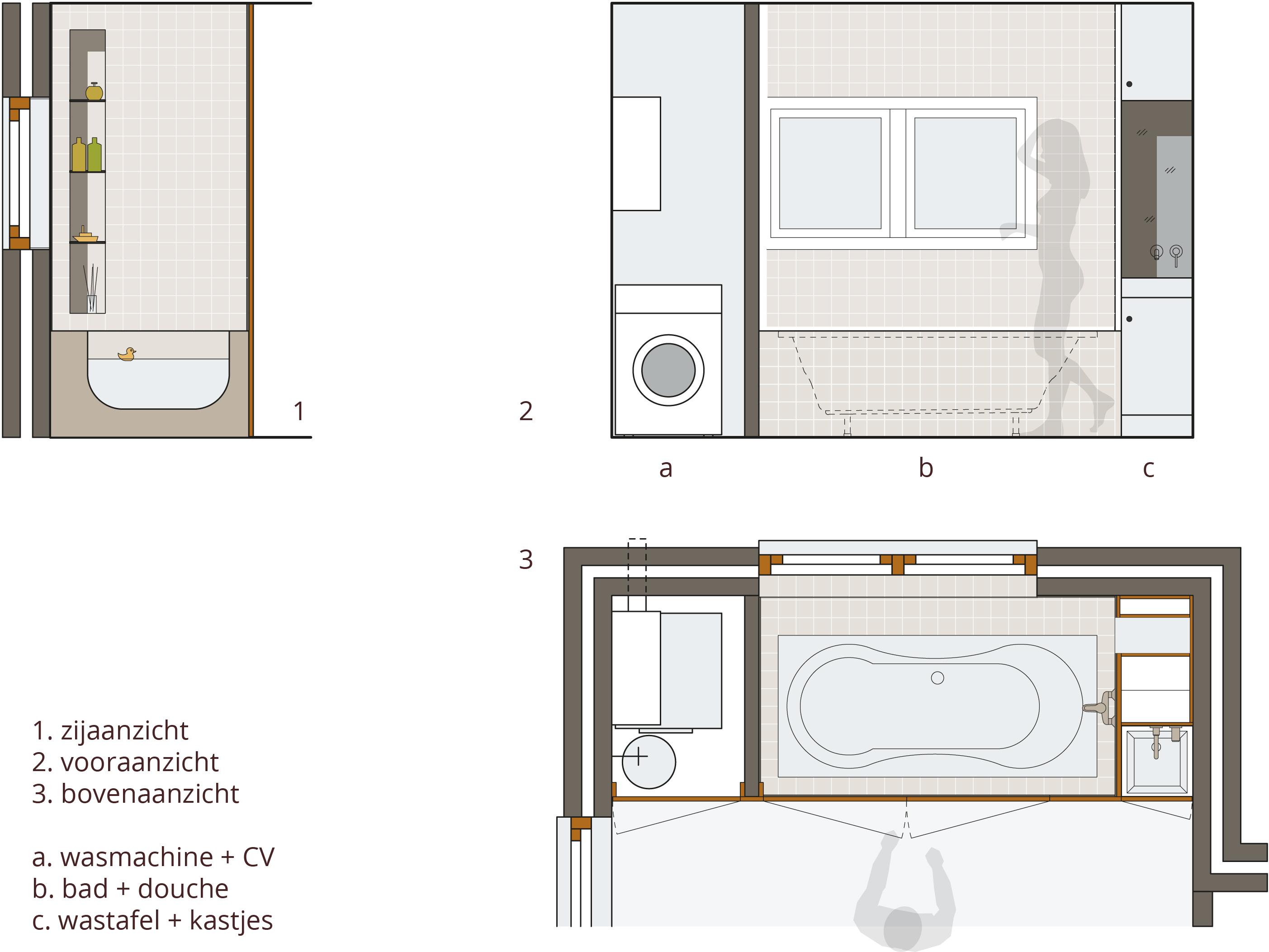 Badkamer badstee warmond hans klanker architect for Planner badkamer