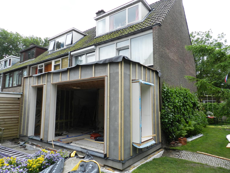 Houten Uitbouw Maken : Uitbouw voorschoten hans klanker architect
